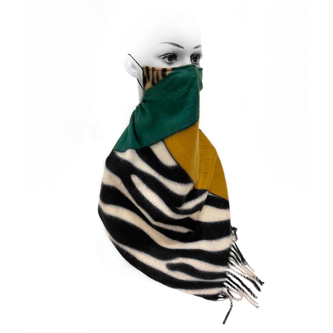 Mascherine&Foulard- Lana  anallergica Zebra Verde